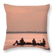 Just Fishing Throw Pillow