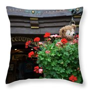 Just Hanging Around Bear Throw Pillow