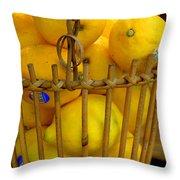 Just Lemons Throw Pillow