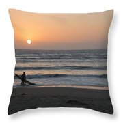 Just One More Wave Throw Pillow