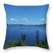 Just One Part Of Crater Lake Throw Pillow