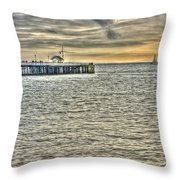 Just Sailing By Grunge Throw Pillow