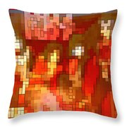 Just Some Colored Squares Throw Pillow