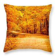 Just Start Walking Throw Pillow