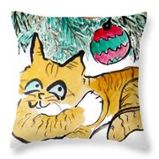 Just Stretching Throw Pillow