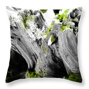 Just The Green Throw Pillow