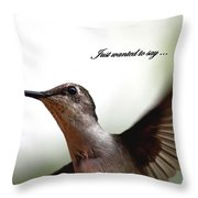 Just Wanted To Say.... Throw Pillow