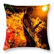 Just Warming Up Throw Pillow