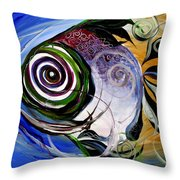 J.v. Wishin Fish 3 Throw Pillow