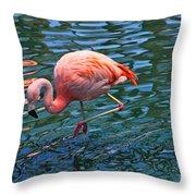 Jw Marriot Flamingo Throw Pillow