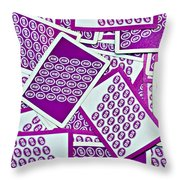 K And B Playing Cards New Orleans Throw Pillow