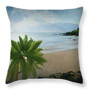 Ka Makani Olu Olu  -  Polo Beach Maui Hawaii Throw Pillow