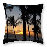 Ka'anapali Sunset Throw Pillow