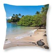 Kahana Beach Throw Pillow
