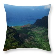 Kalalau Valley 2 Throw Pillow by Ken Smith