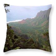 Kalalau Valley Throw Pillow
