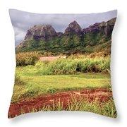 Kalalea Mountain Range Throw Pillow