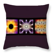 Kaleidoscope - Triptych Throw Pillow