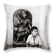 Kali In Benares Throw Pillow by Shaun Higson