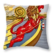 Kalmar Nyckel Red Lion Throw Pillow