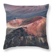 Kamaolii Cinder Cone - Haleakala Crater - View From Kalahaku  Throw Pillow
