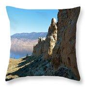 Kamloops Lake Hoo Doo's Throw Pillow