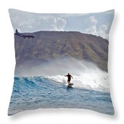 Kaneohe Bay Sufer Mcbh Throw Pillow