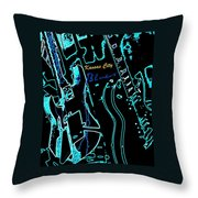 Kansas City Blues Throw Pillow