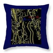 Kansas City Music  Throw Pillow