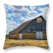 Kansas Stone Barn Throw Pillow