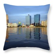 Kaohsiung City Waterfront In The Late Afternoon Throw Pillow