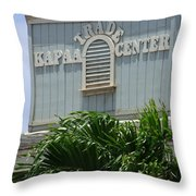 Kapaa Trade Center Throw Pillow