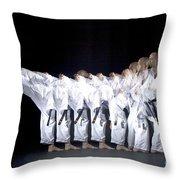 Karate Expert Throw Pillow