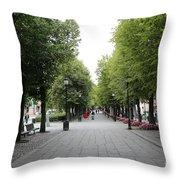 Karl Johans Gate Throw Pillow