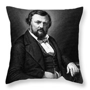 Karl Vogt, German Natural Scientist Throw Pillow