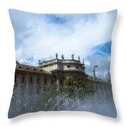 Karlsplatz Fountain Throw Pillow