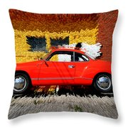 Karmann Ghia Throw Pillow