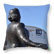 Kate Smith - God Bless America Throw Pillow by Bill Cannon