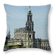 Katholische Hofkirche - Dresden Throw Pillow