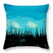Katrina Trees Throw Pillow
