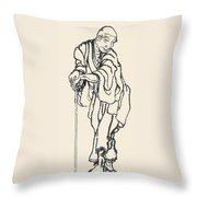 Katsushika Hokusai Throw Pillow