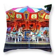 Kauai Carousel At Dusk Throw Pillow