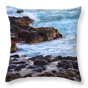 Kauai Rocks Throw Pillow