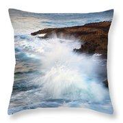 Kauai Sea Explosion Throw Pillow