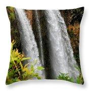 Kauai Waterfall Throw Pillow