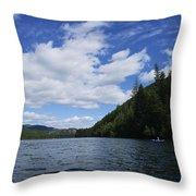 Kayaking A Jewel Throw Pillow