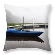Kayaking Morning Throw Pillow
