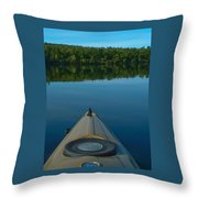 Kayaking Range Ponds 0003 Throw Pillow