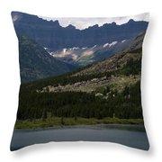 Kayaks On Swiftcurrent Lake Throw Pillow