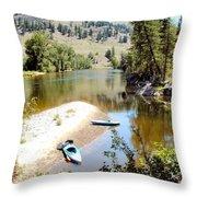 Kayaks On The Kettle Throw Pillow
